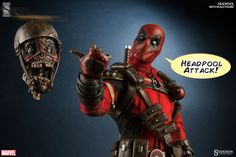 Pre-order the Deadpool Sideshow Collectibles figure from Marvel, and take a look at the Sixth Scale figure up close with new images of the Merc with a Mouth Lego Deadpool, Deadpool Love, Darth Maul Clone Wars, Darth Vader Lightsaber, Comic Book Characters, Comic Book Heroes, Comic Books, Star Wars Girls, Movies