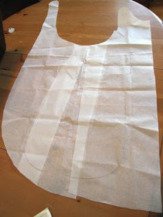 The Crossback Apron Smock - cut on fold - only seam is strap over shoulder