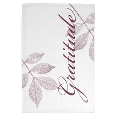 Inspirational Words Gratitude Kitchen Towel by joacreations