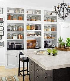 I Love The Bookcase Approach To This Kitchen Pantry. Large Glass Containers  For Everything.