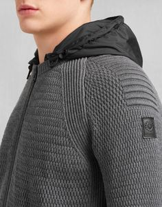 Kenneth Blouson - Mid Grey Melange Wool Knitwear