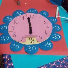 Imagem – Educação Infantil – Aluno On Teaching Time, Teaching Math, Math Classroom, Classroom Activities, Educational Activities, Preschool Activities, Math For Kids, Crafts For Kids, Clock Craft
