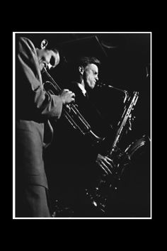 Chet Baker with Gerry Mulligan, Los Angeles 1952 - Photo : William Claxton