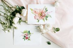 Ad: SPRING collection - watercolor set by Youksy on Welcome to my store! Spring collection is a set of beautiful fragrant flowers and lush greenery. Unique Drawings, Art Drawings Beautiful, Pretty Drawings, Watercolor Illustration, Watercolor Flowers, Graphic Illustration, Beauty Illustration, Creative Illustration, Watercolor Wedding