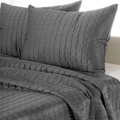 Square Pattern Quilted Comforter Set - Gray (@ Meijer.com)