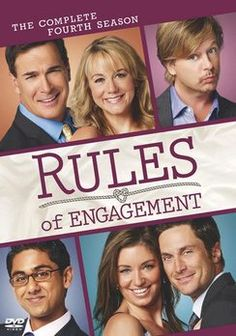 Rules of Engagement - still loving this show,really cracks me up especially Jeff played by Patrick Warburton and Adam - Oliver Hudson :)