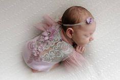 FLOWER ROMPER, Newborn Girl Romper, Lace Romper, Newborn Outfit, Newborn Photo Prop, Baby Romper, Baby Prop, Newborn Props,Girl photo props