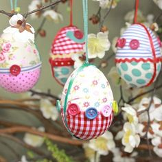Get crafty this Easter and make some homemade Faberge eggs. They make great use of your spare buttons and all those scraps of patchwork material.