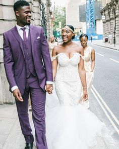Off the shoulder #gowns are so pretty. Congrats to these #lovebirds!  #dapper #munagrooms #munaluchibride | #Repost @karl_lokko  In #life everyone's a scholar or #some sort of philospher. But the only thing I know is we've been walking together for #the last 7 years and we still walking. True.  #suit: @ozwald_boateng #dress: @alonuko  #theroyalwedding #lokkedin #lajetfete : @smedleyshots