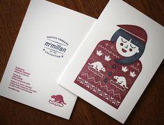 McMillan letterpress cards Design: Michel ZEKE Zavacky Letterpress Printer: Gina Marin