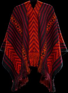 Mapuche (Chile), Poncho, wool, c. 1920.