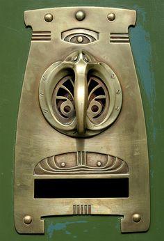Art Nouveau Doorhandle by Gabó