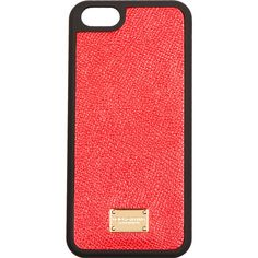 Dolce And Gabbana Red Leather iPhone 5 Case ($29) ❤ liked on Polyvore featuring accessories, tech accessories, phone, phone cases, iphone, cases, iphone case, dolce&gabbana, iphone cover case and apple iphone cases