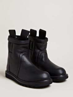 Rick Owens Men's Shearling Lined Boots.