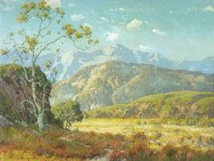 This is a painting created by Maurice Braun titled Entrance to the Valley.