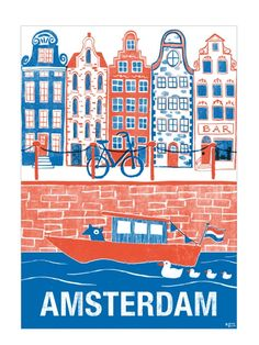 Amsterdam Poster at http://www.humanempireshop.com