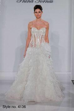 Pnina Tornai – Schatz A-Line Kleid in Organza - Mein Stil Bridal Gown Styles, Bridal Wedding Dresses, Dream Wedding Dresses, Wedding Styles, Wedding Ideas, Wedding Stuff, Wedding Shit, Wedding Things, Wedding Planning