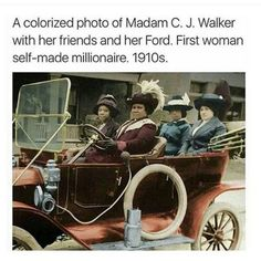 Madam CJ Walker first black female self made millionaire Black Women Quotes, Self Made Millionaire, By Any Means Necessary, Black History Facts, Black History Month Memes, Black Pride, My Black Is Beautiful, Beautiful Eyes, Beautiful People
