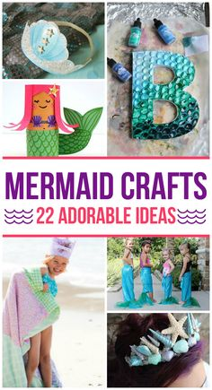 So many fun mermaid crafts for kids that everyone will love.