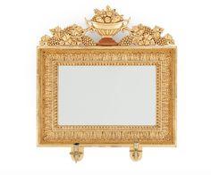 Espelho em madeira gilded a ouro do sec.19th, 68cm X 63cm, 3,290 USD / 2,980 EUROS / 12,400 REAIS / 21,370 CHINESE YUAN soulcariocantiques.tictail.com