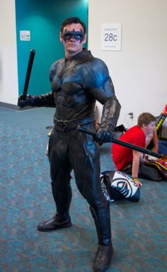 Another possible idea for the 2014 StL Comic Con  Awesome Nightwing from Batman cosplay