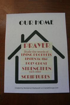 Filling our homes with light and truth Family Home Evening Lesson plan from CranialHiccups.com