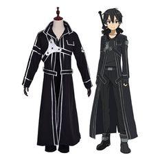 Anime SAO Sword Art Online Kirigaya Kazuto Kirito Cosplay Costume | Cosplay Clans Sword Art Online, Online Art, Kirito, Cosplay Costumes, Raincoat, Anime, Fashion, Character Outfits, Rain Jacket