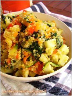 Ricetta Quinoa saltata con verdure e patata dolce da Claudia carotina - Petitchef
