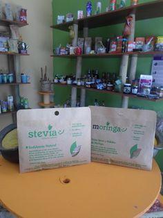 Estevia y Moringa en polvo 100% natural