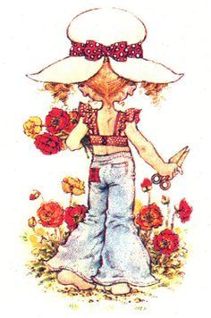 Vintage postcards by Sarah Kay Sarah Key, Sara Key Imagenes, Heart Illustration, Holly Hobbie, Fun Hobbies, Australian Artists, Illustrations, Big Eyes, Vintage Children