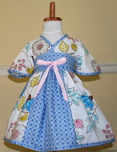 Kyoko style dress in blue and pink asian by emaleighscupboard, $45.00