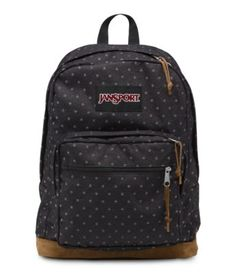 The JanSport Right Pack Expressions features a variety of prints, including animal prints, and colors on unique fabrications. This backpack includes signature suede leather bottom, 15 in laptop sleeve and front pocket with organizer. Mochila Jansport, Jansport Backpack, Stylish Backpacks, Cute Backpacks, Girl Backpacks, Leather Backpacks, Backpacks For School, Mk Handbags, Handbags Michael Kors