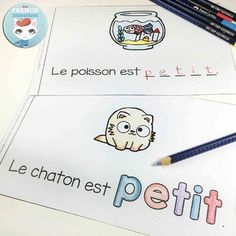 FRENCH Emergent Reader - PETIT French Teacher, Teaching French, Teaching Writing, French Classroom, Primary Classroom, Read In French, Emergent Readers, France, Anchor Charts