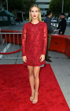 Clair Holt in red sequin dress. Styled by Caley Rinker. Get styled and shop the look! Celebrity Feet, Celebrity Style, Red Sequin Dress, Fact Families, Claire Holt, Height And Weight, Cool Outfits, Red Outfits, Personal Style