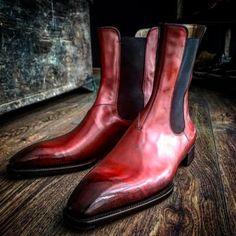 Bespoke ankle boots in Perfetta last, dark meleze