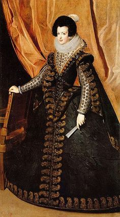 Isabel de Borbón, by Diego Velázquez. Elisabeth of France born in 1602 was Queen consort of Spain and Portugal as the first wife of King Philip IV of Spain.
