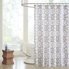 Madison Park Pure Sophie Shower Curtain