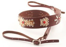 Circus Camera Strap - Walnut w/ Red Studs