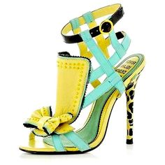 River Island Heels, a lot going on but it works! >>>I'd SO wear these. Hot Shoes, Crazy Shoes, Me Too Shoes, Shoes Heels, Aqua Heels, Gold Heels, Blue Shoes, Pumps, Shoe Boots