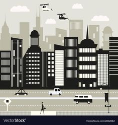 Life in black and white vector image on VectorStock White Colors, Black And White Colour, Web Design, Graphic Design, Single Image, City Life, Adobe Illustrator, Vector Free, Pdf