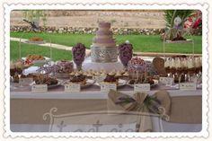 mesas dulces estilo campestre - tartricia.com