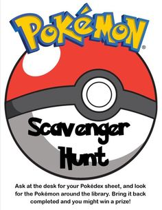 Pokemon Scavenger Hunt in the library! (scheduled via http://www.tailwindapp.com?utm_source=pinterest&utm_medium=twpin&utm_content=post91247033&utm_campaign=scheduler_attribution)