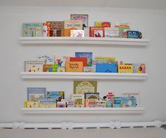use raingutter to create a great bookshelf // www.see-saw.ca