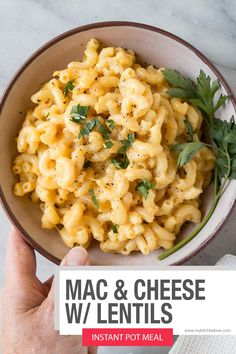 This easy Instant Pot meal is perfect for busy weekdays that need a bite of comfort food. Added red lentils that dissolve allow this Macaroni and Cheese recipe is pack some heavy hitting fibre and iron in it.