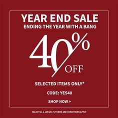 The Year End Sale is here!  Enjoy massive beauty savings at 40% off on 180 products! Brands include Chanel, SK-II, Jo Malone, Elizabeth Arden and more. Use code YES40 to enjoy the offer.  https://www.beautyfresh.com/collection/year-end-sale  #BeautyFreshFave #BeautySale #Yearendsale #Beauty #JoMalone #SKII #Chanel #Sisley #Makeup #Skincare #Fragrances #Singapore