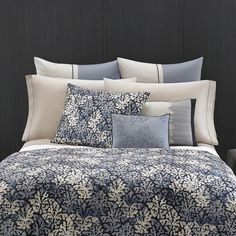 #VeraWang #Botanical Duvet Set. #bed #beddingstyle #bedding #blue #bedroom