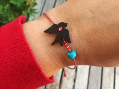 Excited to share this item from my shop: March bracelet Swallow jewelry Martis bracelet Spring jewelry Martaki Bird bracelet Spring gifts Bird lover gift Red white bracelet Martisor Bird Jewelry, Keep Jewelry, Jewelry Gifts, Red String Bracelet, Evil Eye Charm, Evil Eye Bracelet, Rakhi, Swallow, Turquoise Beads