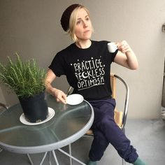 Hannah Hart - Practice Reckless Optimism shirt