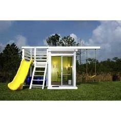 Swing Set idea.....this is totally the coolest thing ever