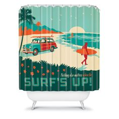 DENY Designs Home Accessories | Anderson Design Group Surfs Up Shower Curtain